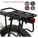 SunRise Upgrade Shelf 160 Lb Capacity Adjustable Bike Cargo Rack Luaggage Shelf Bike Equipment with Free Headscarf