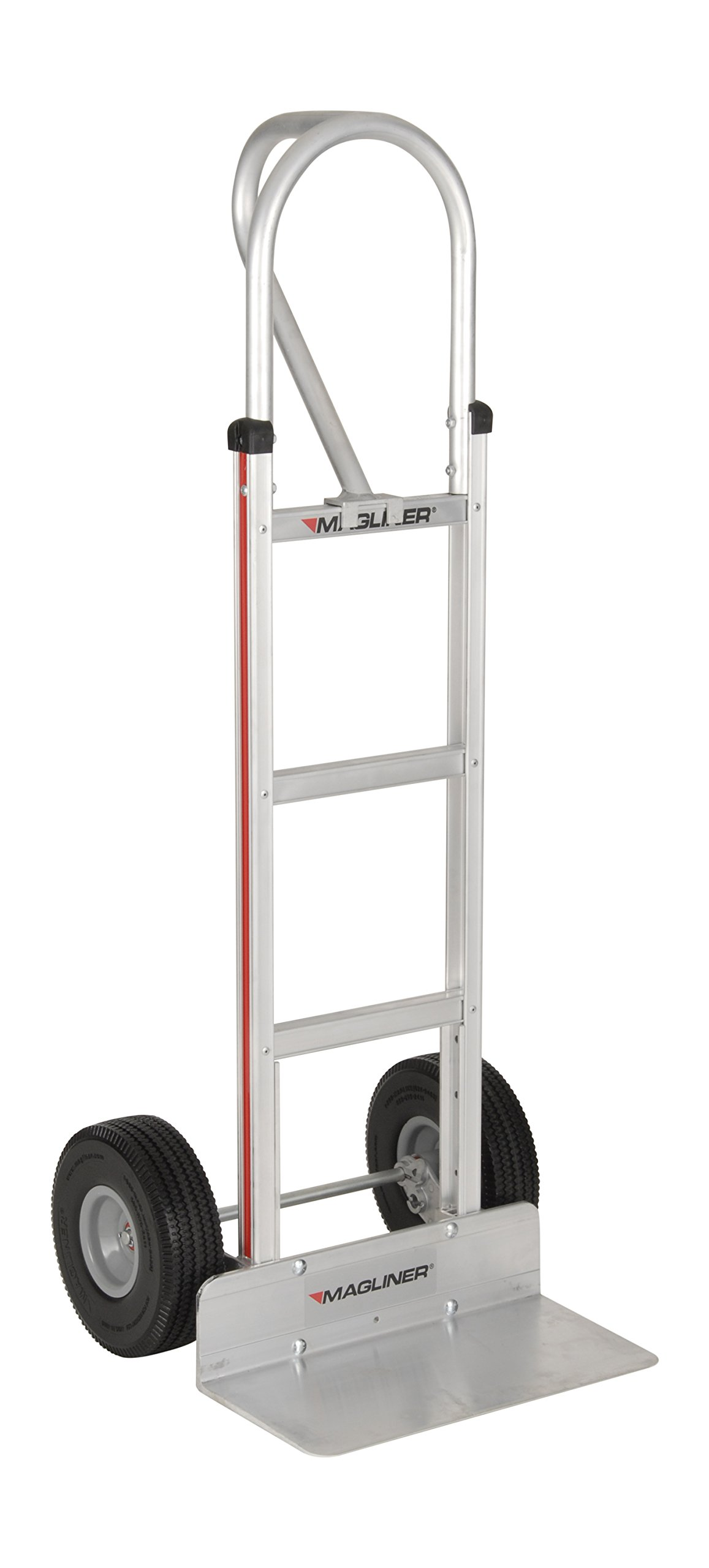 Magliner HMK15AG2C Aluminum Hand Truck, Vertical Loop Handle, 18'' x 9'' Aluminum Extruded Nose Plate, 500 lb Capacity by Magliner