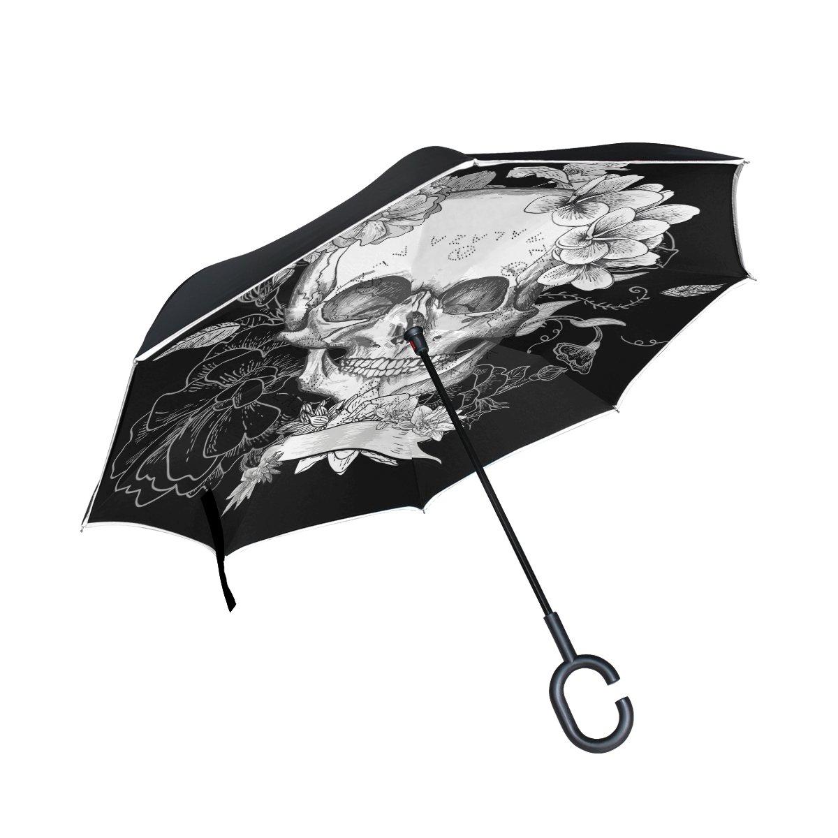 Grateful Dead Auto Foldable Windproof Rain Umbrella