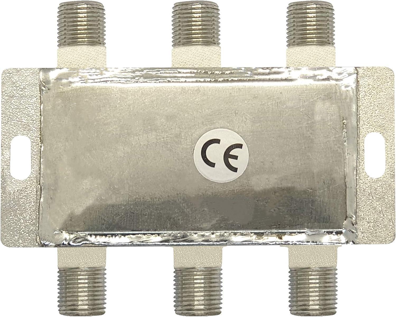 Elettronica Cusano 9433-10 Derivador satélite de 4 salidas Derivate de 10 dB, gris