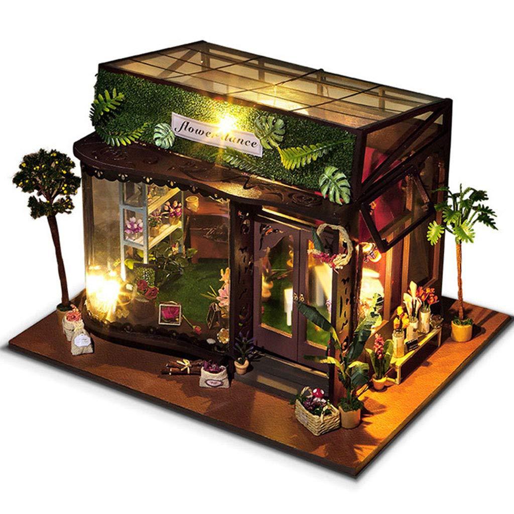 diseño único INOOY Casa De Muñecas Modelo De Casa Juguetes Juguetes Juguetes De Ensamblaje Regalos De Cumpleaños Creativos  exclusivo