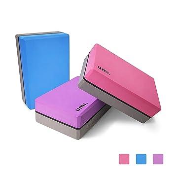 UMI  Essentials Yoga Blocks High Density Lightweight Firm Yoga Bricks EVA  Foam Yoga Support Blocks