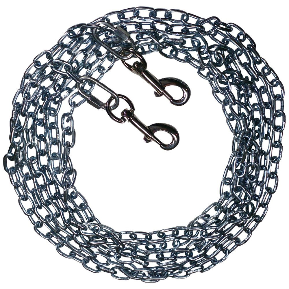 Beast-Master Straight Link Tie-Out Chain with Bolt Snaps Medium Dogs 35 LBS (100)