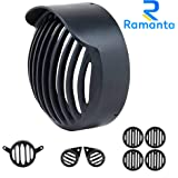 Ramanta Plastic Cap, Headlight, Tail Light, Parking Light, Indicator Complete Grill Set for Royal Enfield Classic 350/500 - Set of 8 (Stealth Black, Gun Metal Grey)