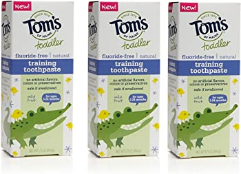3-Count Toms of Maine Toddlers 1.75 Oz Natural Toothpaste