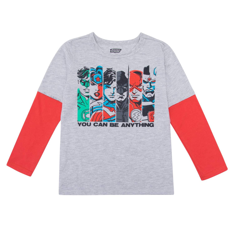 55a64d912 Amazon.com: DC Comics Long Sleeve Shirt - Long Sleeve T-Shirt DC Comics  Featuring Batman, Superman Justice League: Clothing