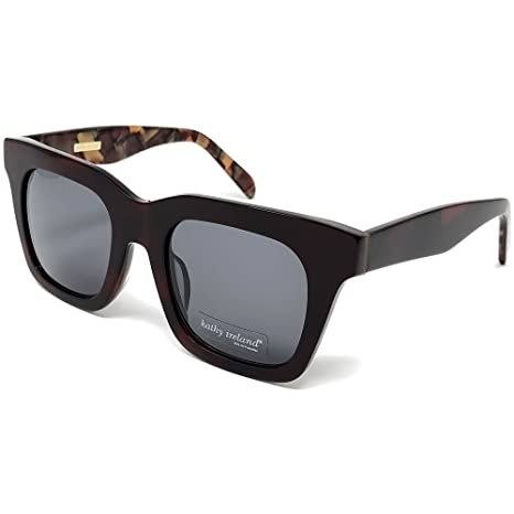 b5ee85657f Image Unavailable. Image not available for. Color  Kathy Ireland Womens  Acetate Wande Square Sunglasses with Marble Frame