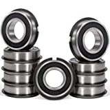 """10 Pcs 99502HNR Ball Bearing (ID 5/8"""" x OD 1-3/8"""" x Width 7/16"""") Rubber Sealed Deep Groove Bearing with Snap Ring for…"""