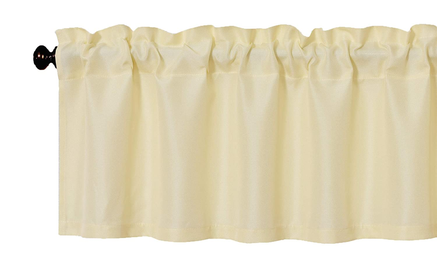 Aiking Home Solid Rod Pocket Valance for Window, 55 by 16-inch, Ivory