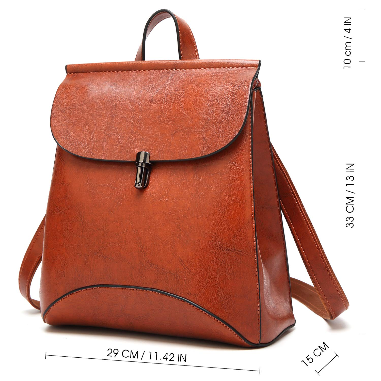 Amazon.com  SiMYEER Women s Pu Leather Backpack Purse Ladies Casual  Shoulder Bag School Bag for Girls  Shoes 4182468e831df