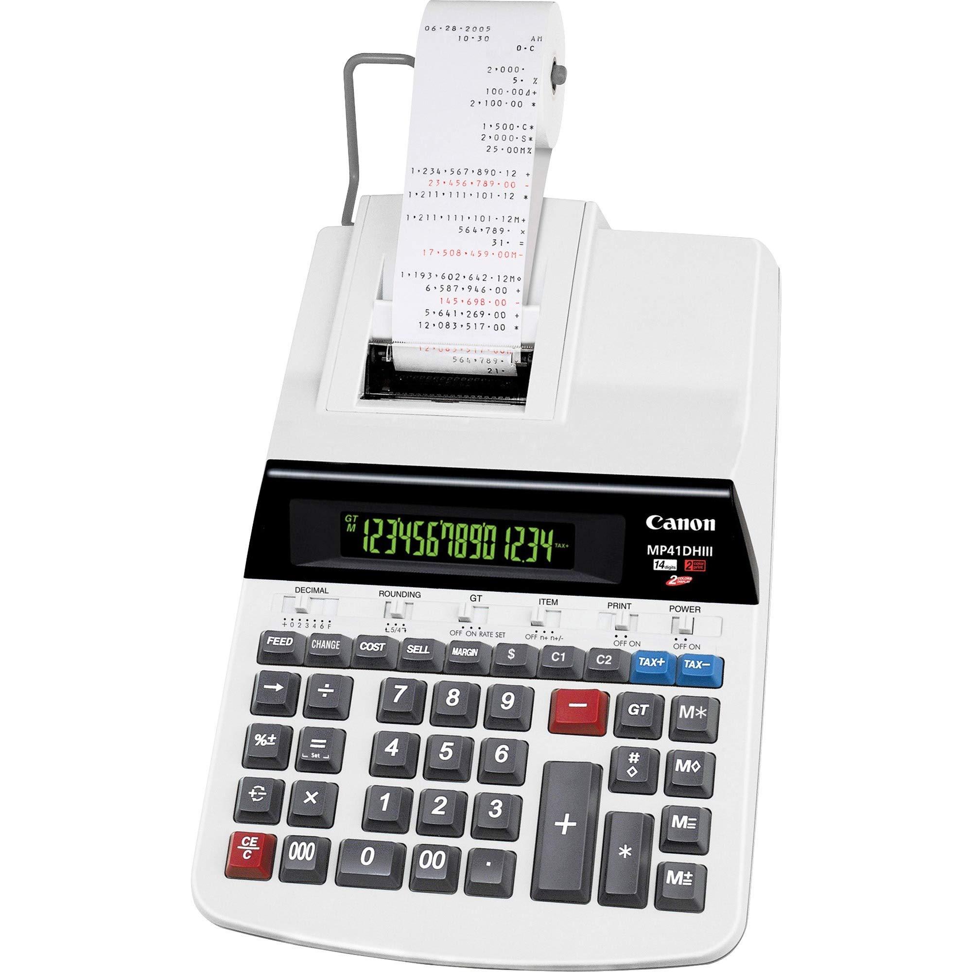 Canon MP41DHIII Printing Calculator 14-Digit 9''x14''x3-1/4'' Gray