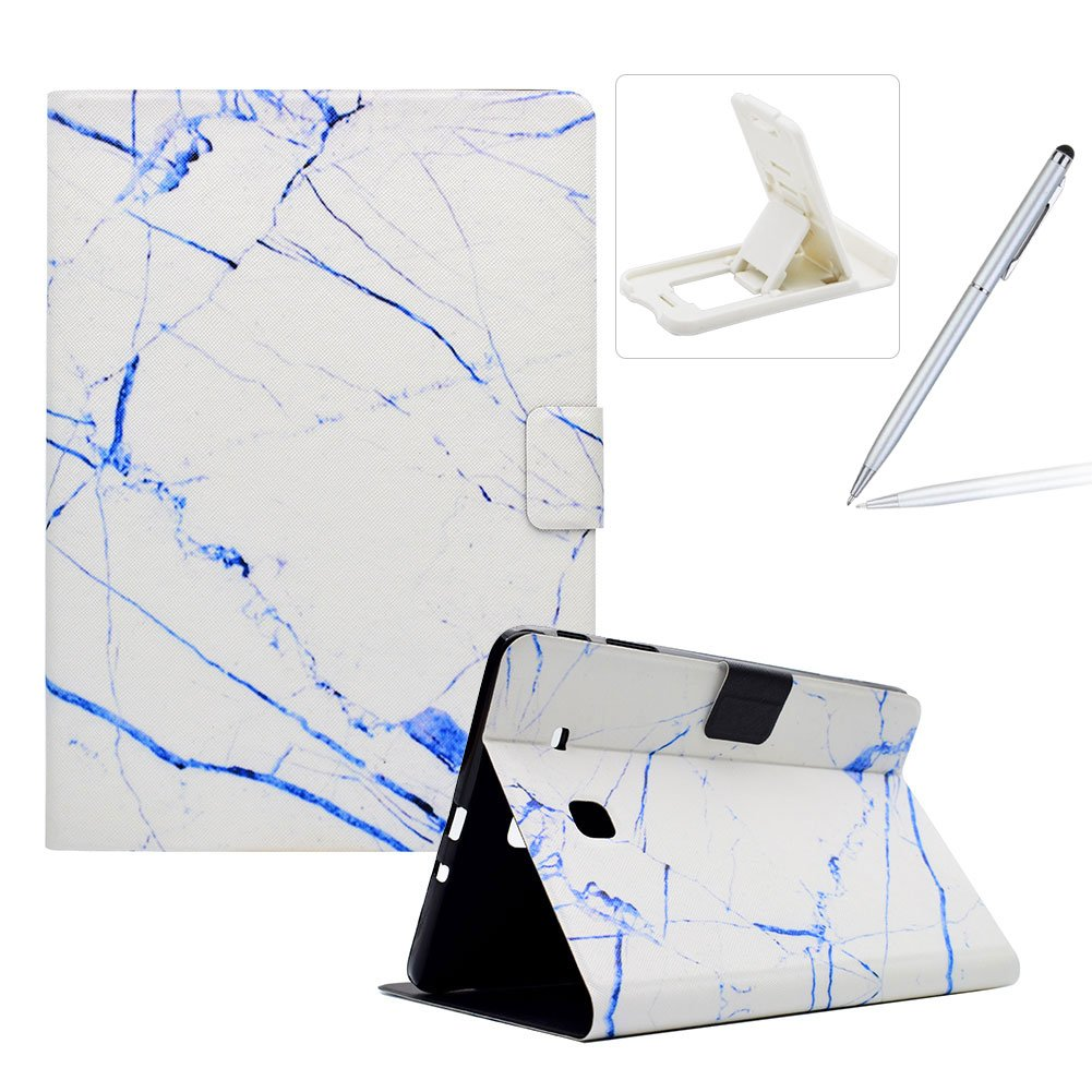 Wallet Folio Case for Samsung Galaxy Tab E 9.6 T560, Bookstyle Flip Pu Leather Case for Samsung Galaxy Tab E 9.6 T560, Herzzer Stylish Classic [Ocean Marble Print] Stand Magnetic Smart Leather Case with Soft Inner for Samsung Galaxy Tab E 9.6 T560