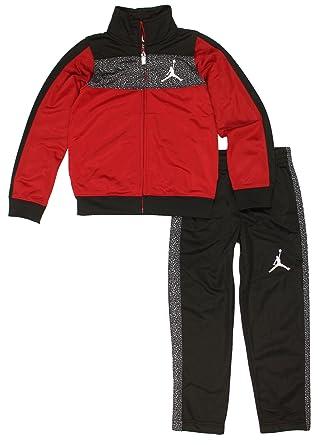 b406ba490647 Jordan Boys  Nike Air Elephant Print Tricot Tracksuit Jacket   Pants Set ( Red
