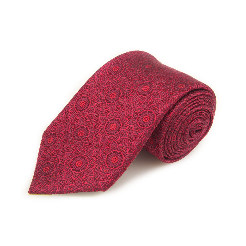 Santorelli Red Fancy Woven Silk Tie