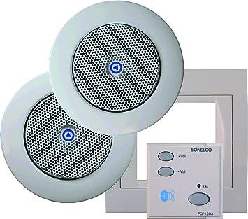 Sonelco PK2293-10 - Sistema de Sonido con Mando Amplificador con Dos Altavoces