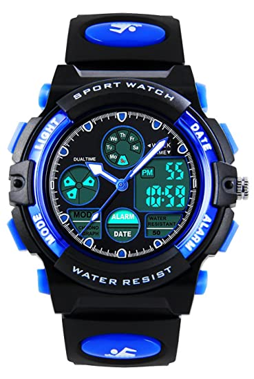 Kids Digital analógico relojes para niños - Childrens deportes al aire  libre reloj con alarma  0ebce5ed9df7