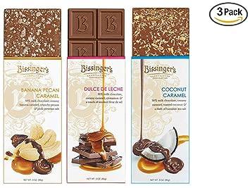 Bissingers Milk Chocolate Gift Set (3-Pack) - Dulce De Leche, Coconut