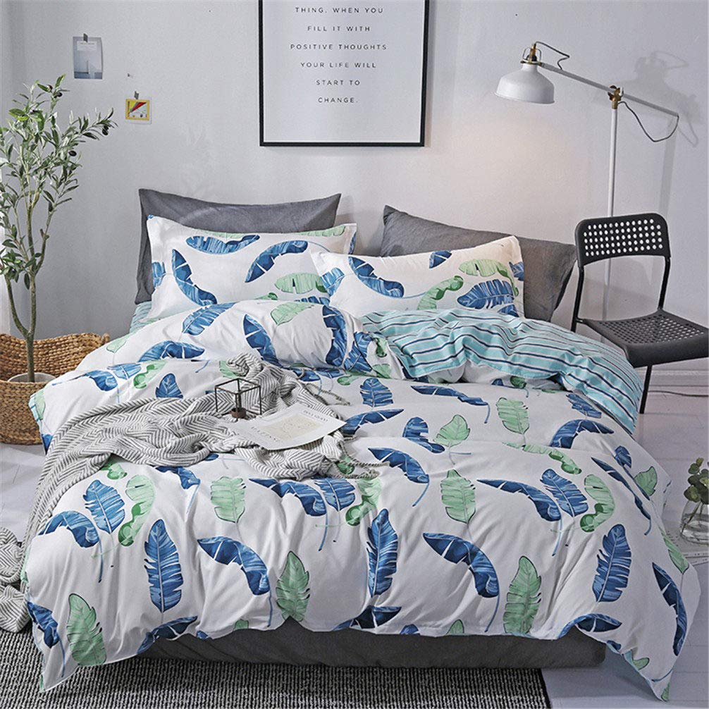 Sookie 3Pcs Duvet Small Cow Milk Cartoon Bedding No Comforter and Sheet Duvet Cover Set with 2 Pillow Shams - Twin Size HQZG