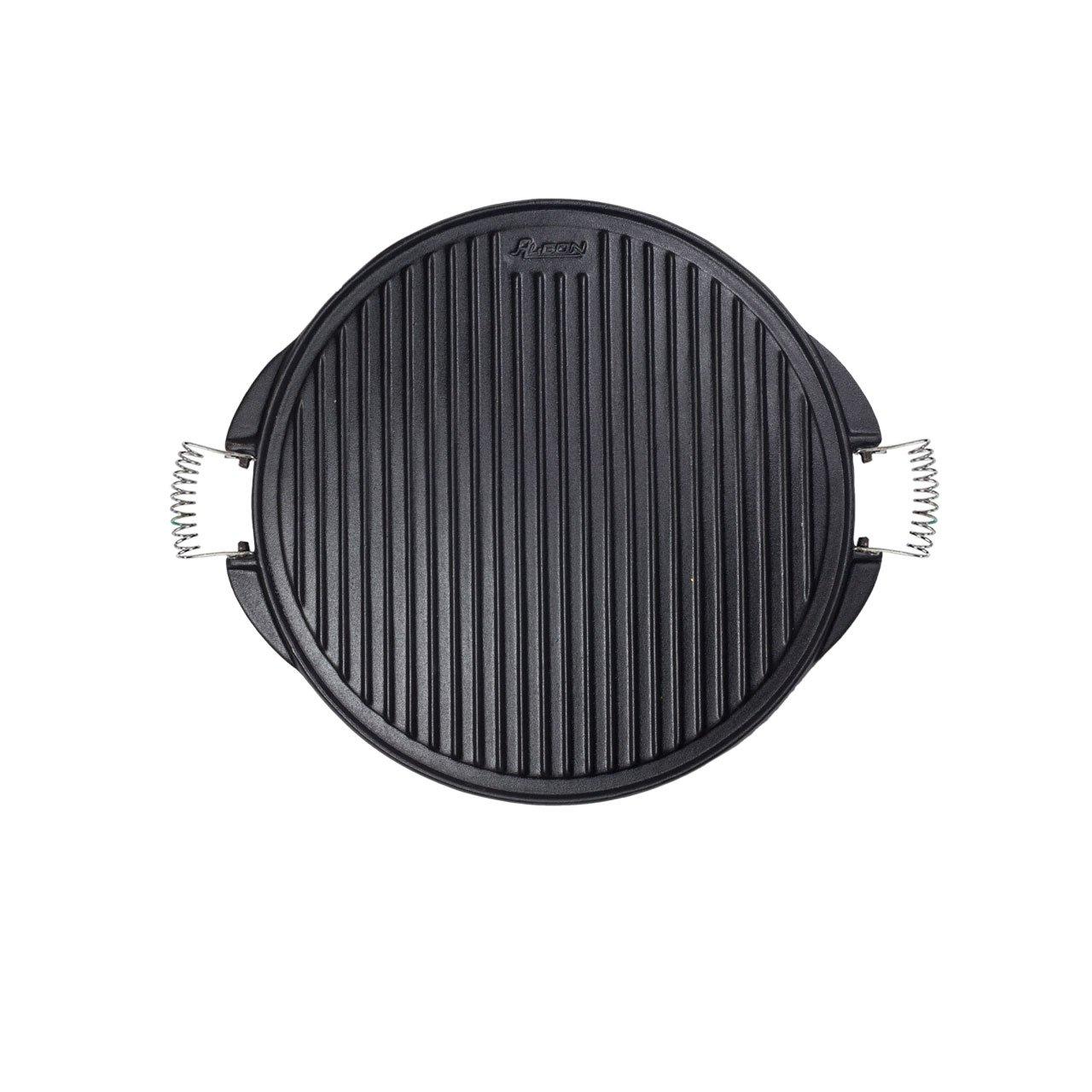 Algon AH112 Plancha de Cocina, 53 cm de diámetro, Inoxidable con Doble Cara, Hierro: Amazon.es: Hogar