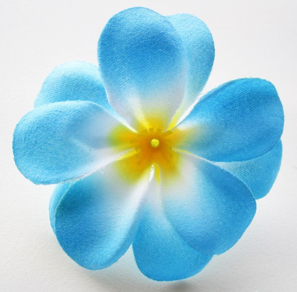 Amazon 12 blue hawaiian plumeria frangipani silk flower heads amazon 12 blue hawaiian plumeria frangipani silk flower heads 3 artificial flowers head fabric floral supplies wholesale lot for wedding flowers izmirmasajfo