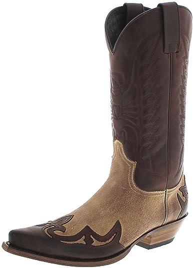 e775ebd80fdb70 Sendra Boots Damen Herren Cowboy Stiefel 13170 Westernstiefel Braun 36 EU