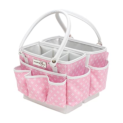 everything mary pink fold open storage organizer bin for tools crafts home