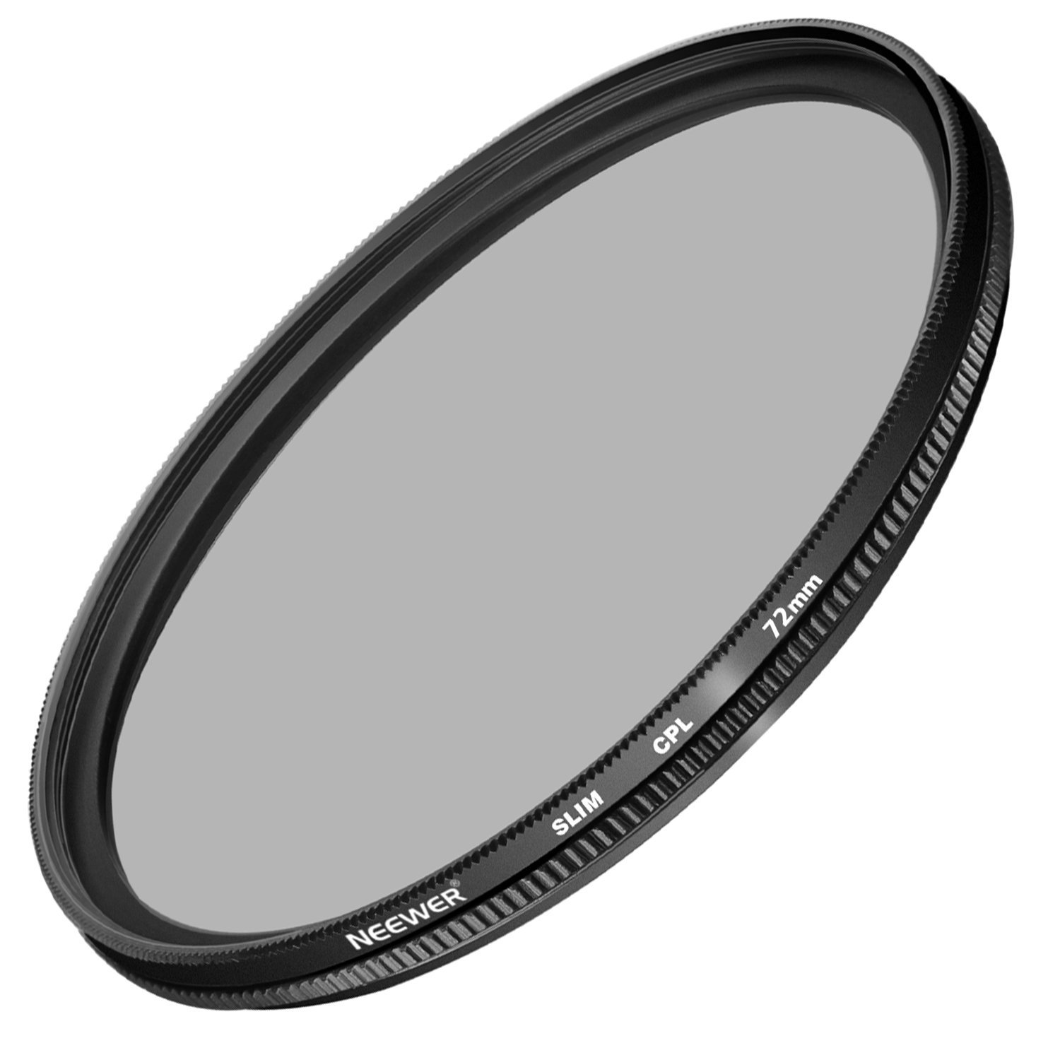 Neewer 72MM Ultra Slim CPL Filter Circular Polarizer Lens Filter for Camera Lens with 72MM Filter Thread Size, Made of Optical Glass and Aluminum Alloy Frame by Neewer