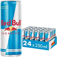 Red Bull Energy Drink Sugar Free 24 Pack of 250 ml