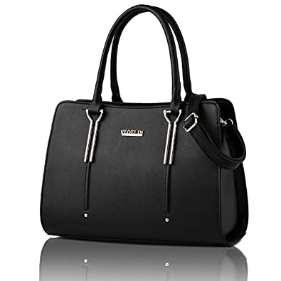 Satchel Purse for Women Satchel Tote Bag Womens Purses and Handbag Shoulder  Bag (black) 8576640886582