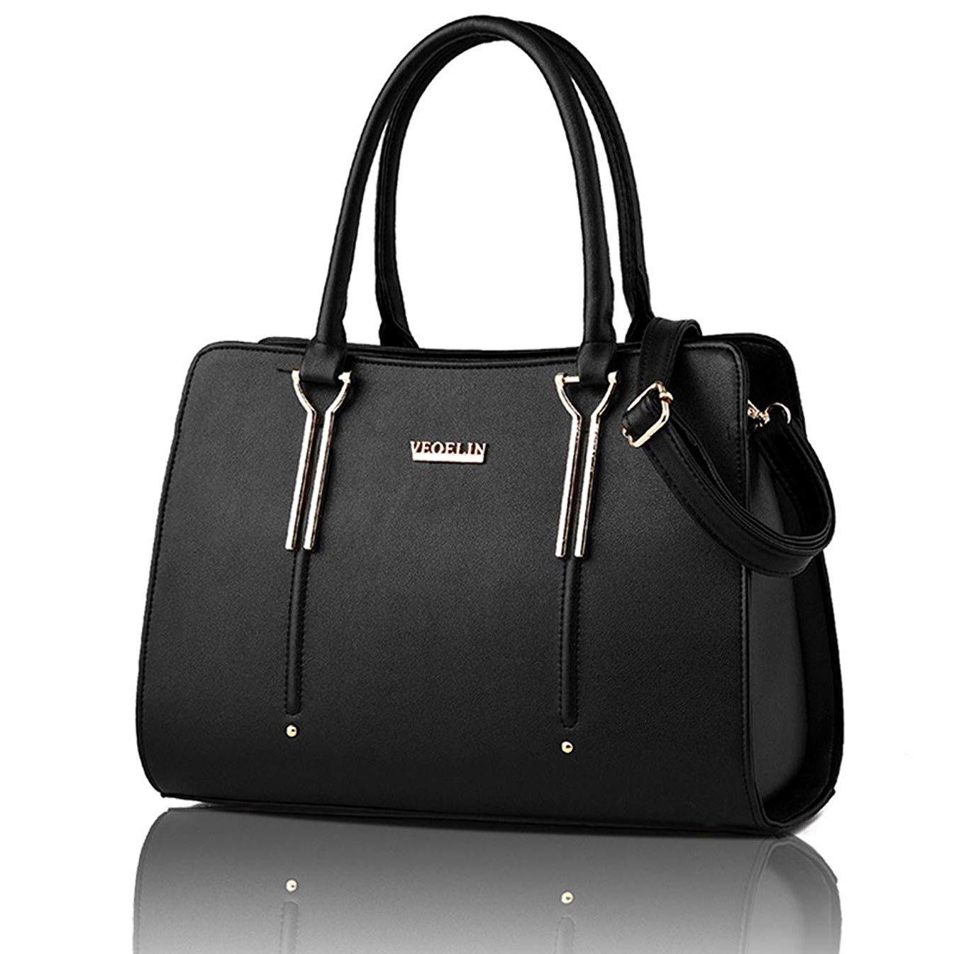 Satchel Purse for Women Satchel Tote Bag Womens Purses and Handbag Shoulder Bag (black)