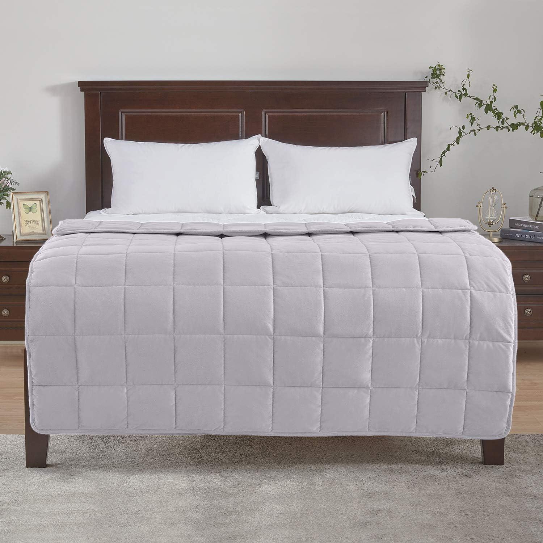 Besseren Schlafen und Entspannung weich 150x200cm Khaki 11kg puredown/® Gewichtete Decke f/ür 95-130kg