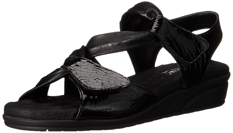 Walking Cradles Women's Valerie T-Strap Sandal B0041G3XMG 7.5 XW US Black