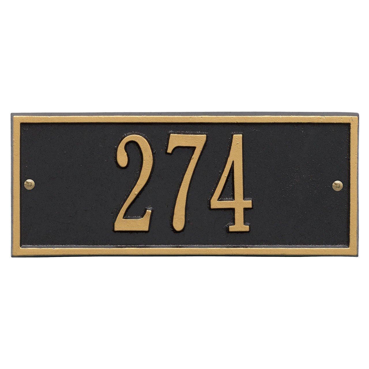 Customized Hartford Mini WALL Address Plaque 1 Line 11''W x 4''H