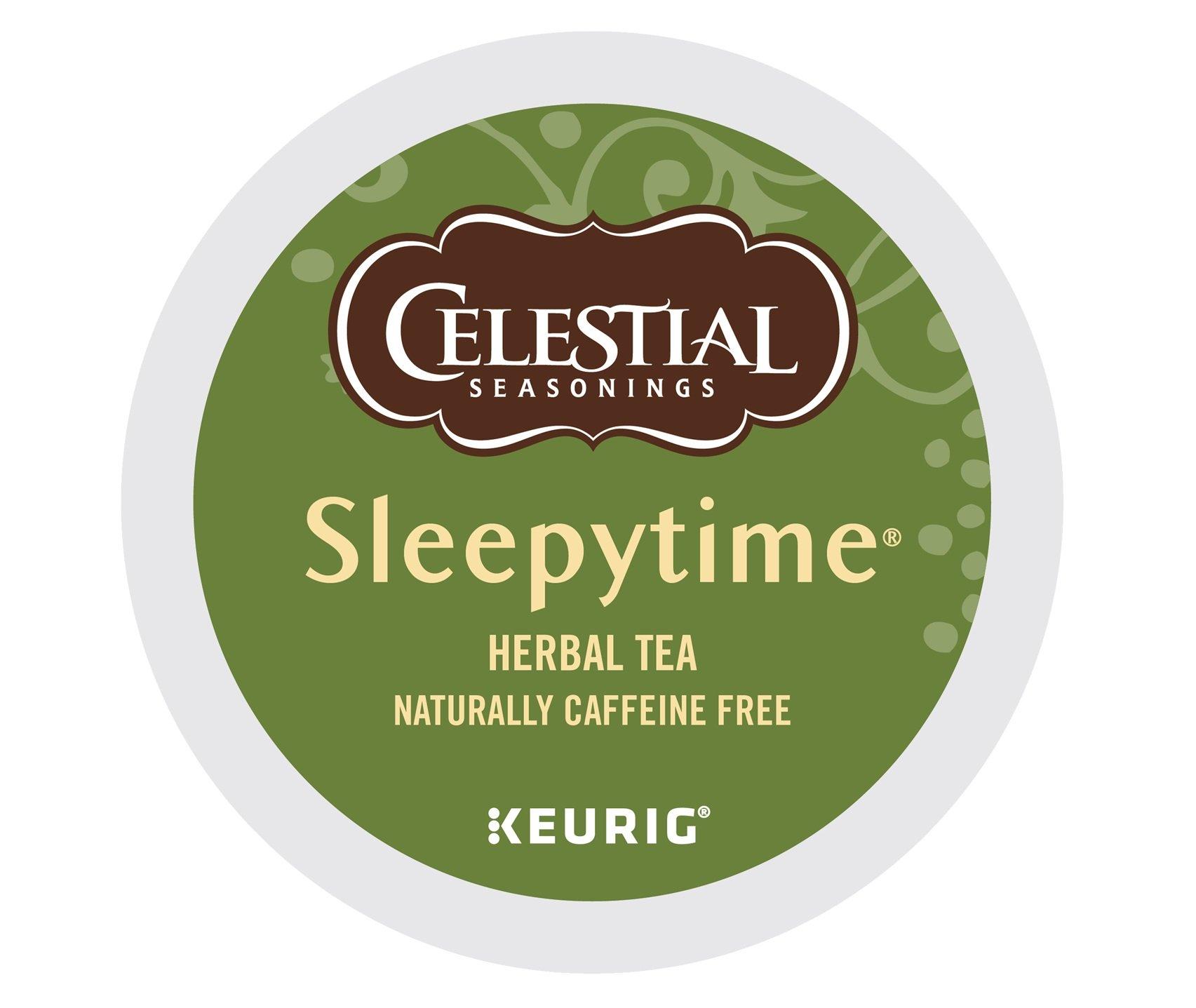 Celestial Seasonings Sleeptime Herbal Tea, Single Serve Coffee K-Cup Pod, Tea, 72 by Celestial Seasonings