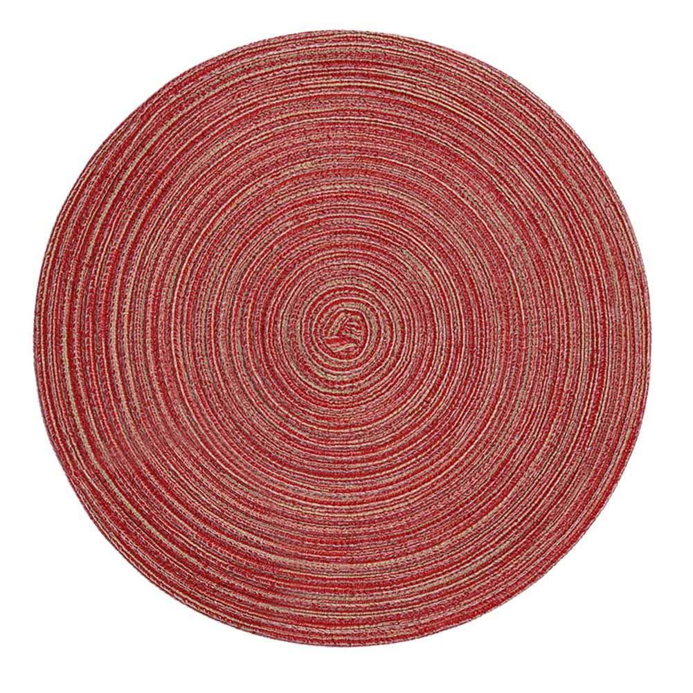 Mantel Individual de Hilados de algodón Tejido de Cuerda de algodón Redondo Mantel Individual Aislante Decoración de Mesa Mantel dizi248