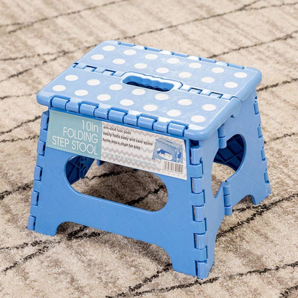 Zplyer Voetbord kunststof voetenbankje kinderkruk met patroondecoratie robuust en duurzaam draagbare klapkruk van kunststof minimalistisch grijs blauw