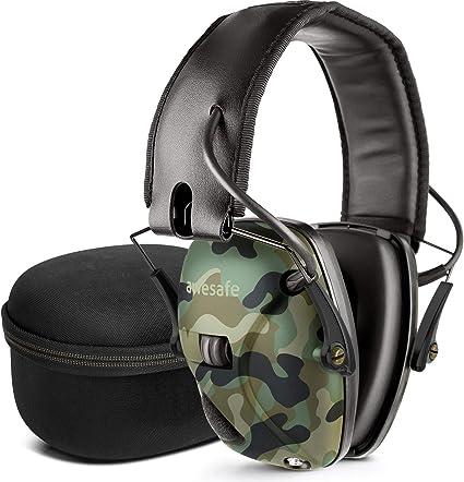 awesafe Elektronischer Trigger-Geh/örschutz GF01 mit Hartschalentasche zur Aufbewahrung auf Reisen und zur Ger/äuschverst/ärkung mit Ger/äuschreduzierung