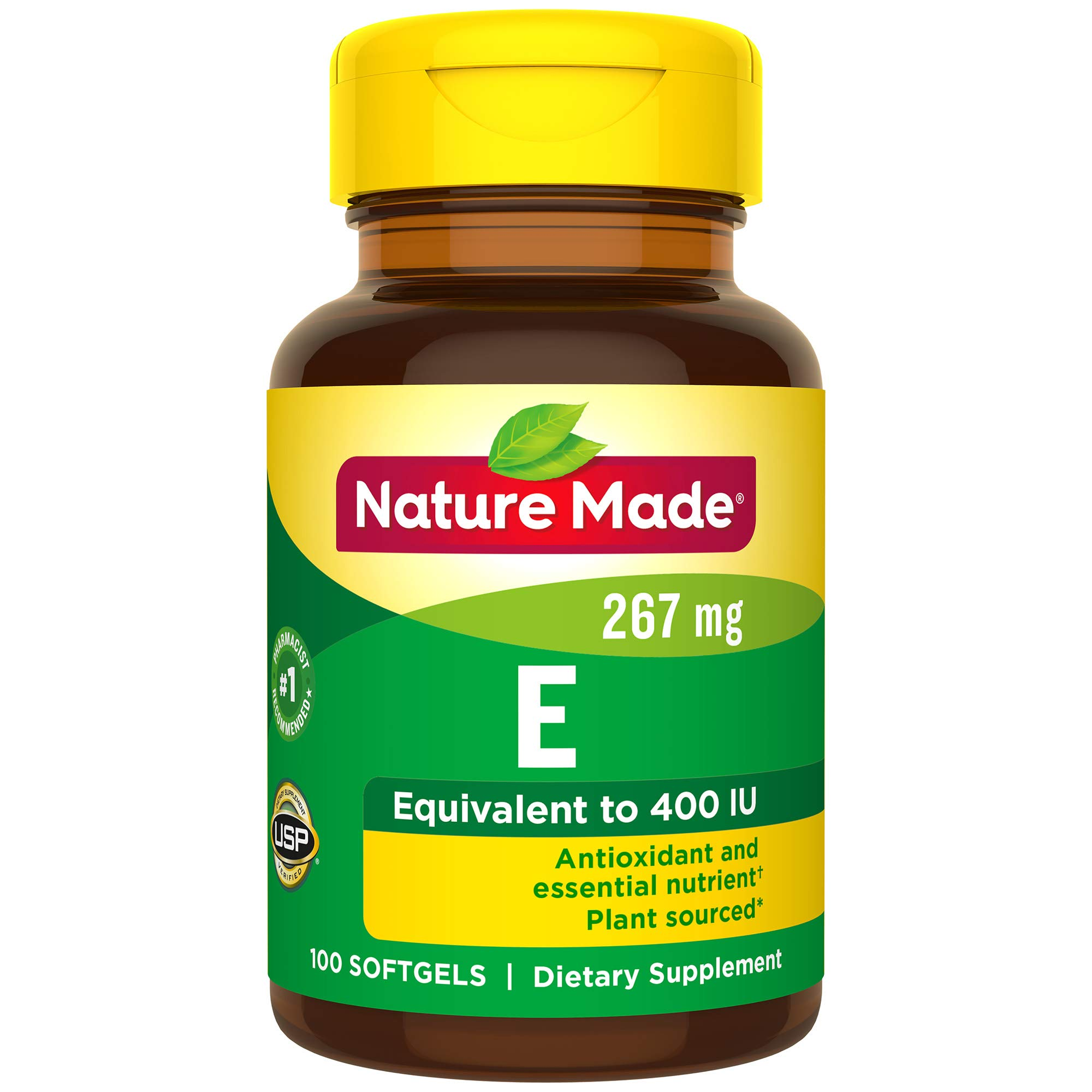 Nature Made Vitamin E 400 I.U. Softgels 100 Softgels (Pack of 3)