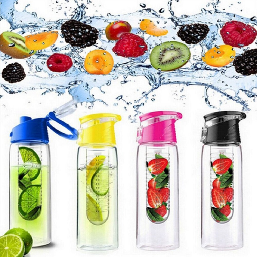 Marsh Wilcox 27 ozスポーツFruit Infuser Water Bottle with Carrying Handle – ロックFlip Top Lid and Carrying Handl B076RHYSHV ローズレッド