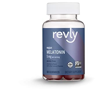 Image Unavailable. Image not available for. Color: Amazon Brand - Revly Melatonin 5 mg ...
