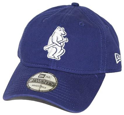 025fa57341c Amazon.com   New Era Chicago Cubs MLB 9Twenty Cooperstown Adjustable Hat -  Bear   Sports   Outdoors