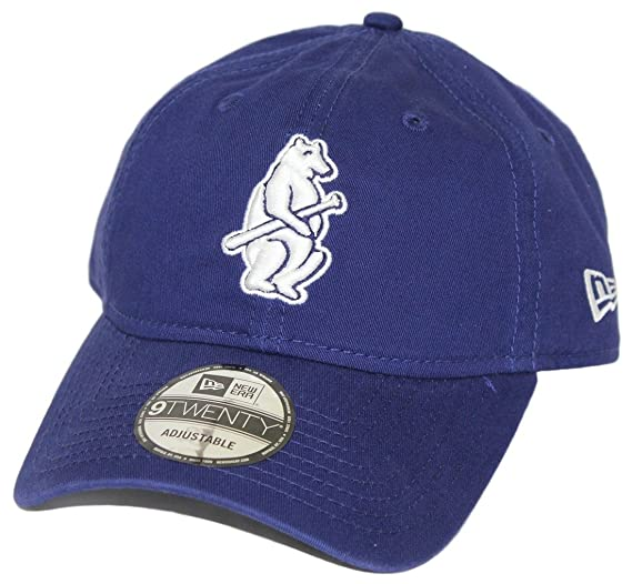 ec65a6c44 Amazon.com : New Era Chicago Cubs MLB 9Twenty Cooperstown Adjustable Hat -  Bear : Clothing
