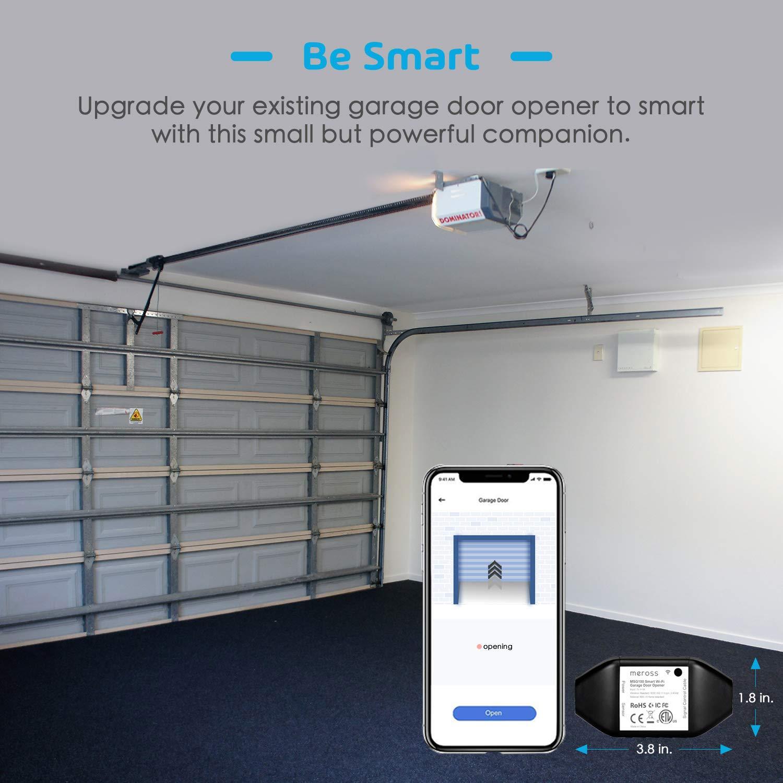 Smart Garage Door Opener Remote, APP Control, Compatible with Alexa and  Google Assistant, Multiple Notification Modes, No Hub Needed by meross -  Black