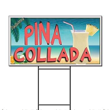 Amazon.com : Pina Colada Restaurant Café Bar Corrugated Plastic Yard ...
