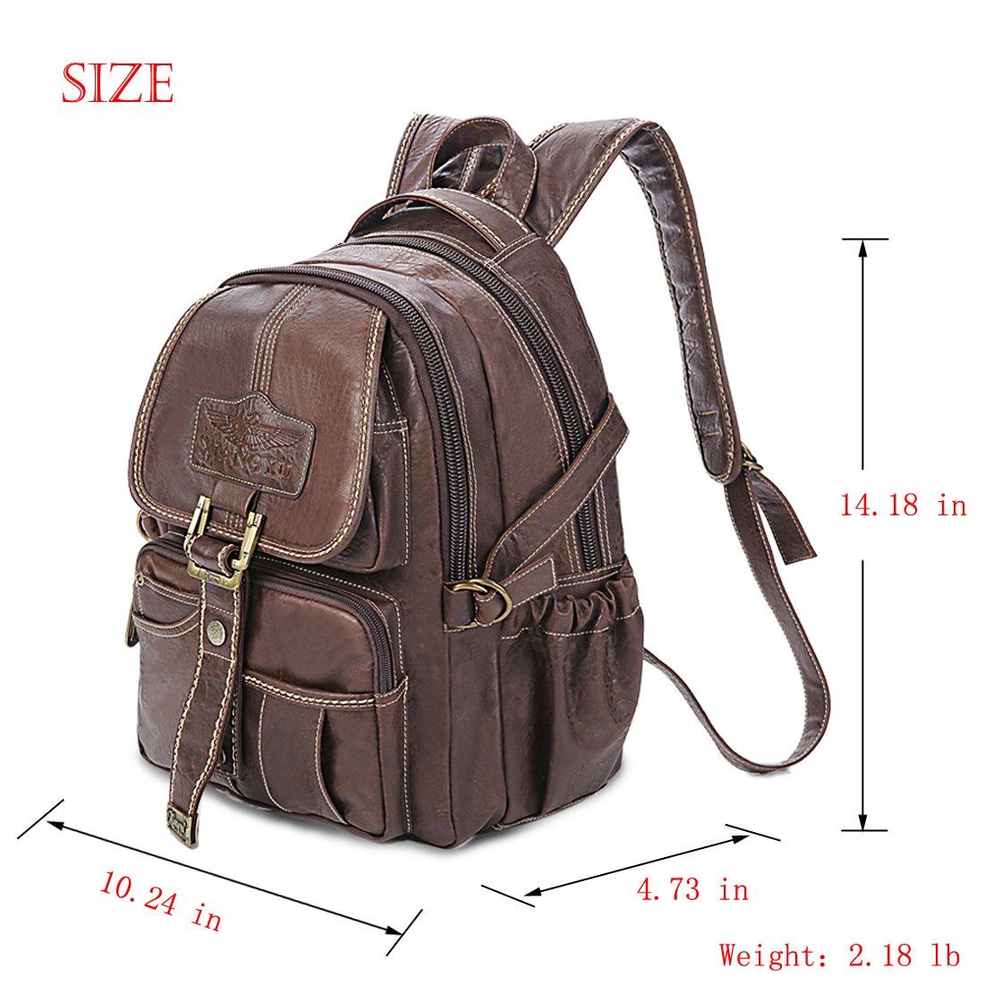 Yaoko Women Fashion college school bag travel backpack (Black) by Yaoko (Image #2)