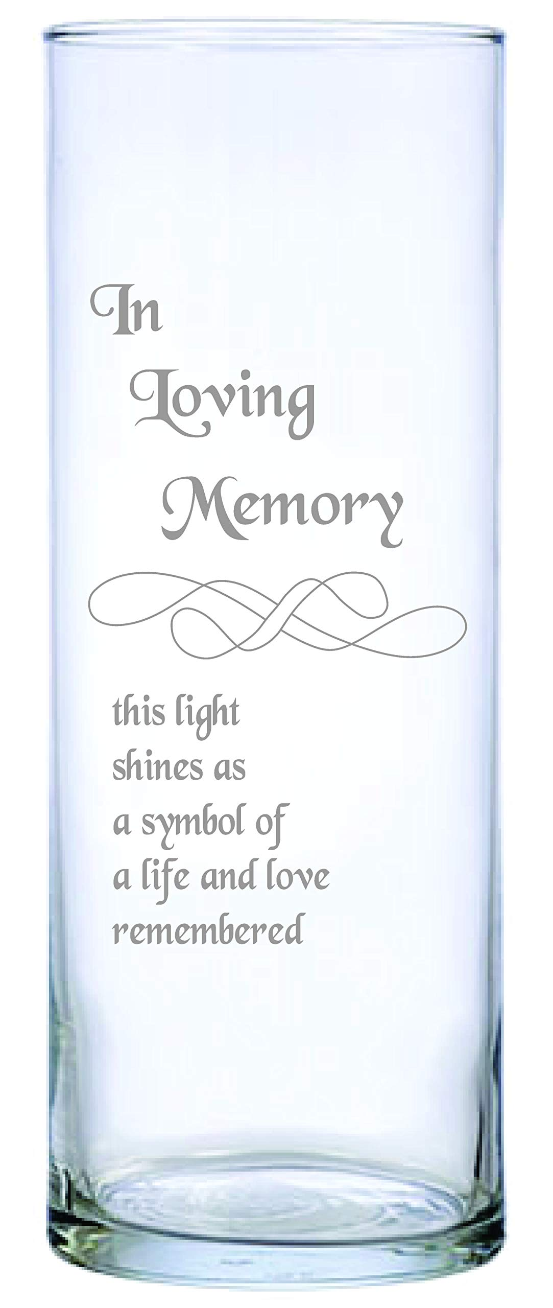 IE Laserware Beautifully Etched Memorial Candle Comes Complete with 3'' Floating Candle.