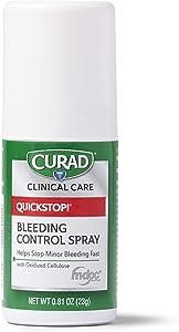 CURAD QuickStop Bleeding Control Spray, For Minor Cuts & Scrapes, .81oz (1 Count)