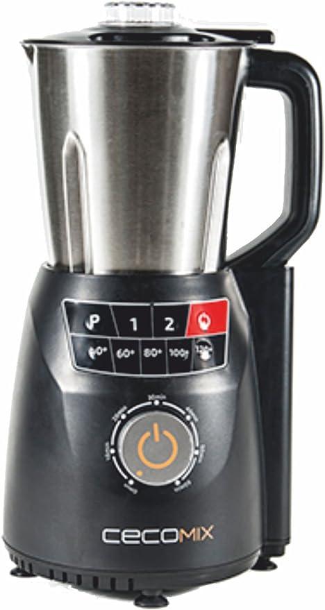 Cecomix Robot Compact Pro Que Cocina y tritura, 1250 W, 2.8 litros, Acero inoxidable|PU, Plata: Amazon.es: Hogar