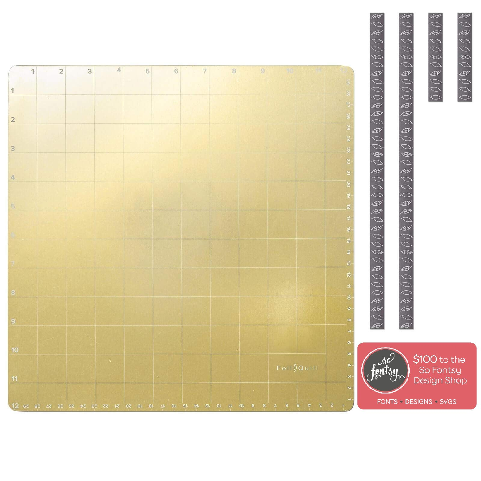 Foil Quill Magnetic Mat 12'' x 12'' for Silhouette Cameo, Cricut & Brother, Magnets, So Fontsy Design Card