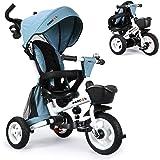 Fascol 6 en 1 Triciclos Bebés Plegables con Ruedas de Goma y 360° Asiento Giratorio, Triciclo Evolutivo para 6 Meses a 5…